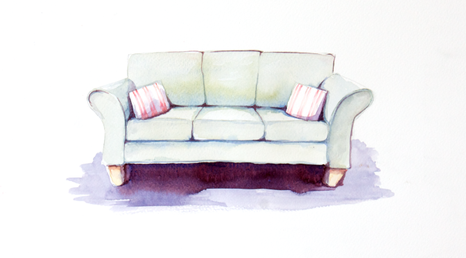 Down the back of the sofa